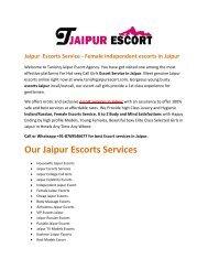 Jaipur Escorts - VIP Escort Girls Jaipur - Escort Services in Jaipur