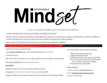 Kit média Mindset Entrepreneur Magazine esquisse.pub