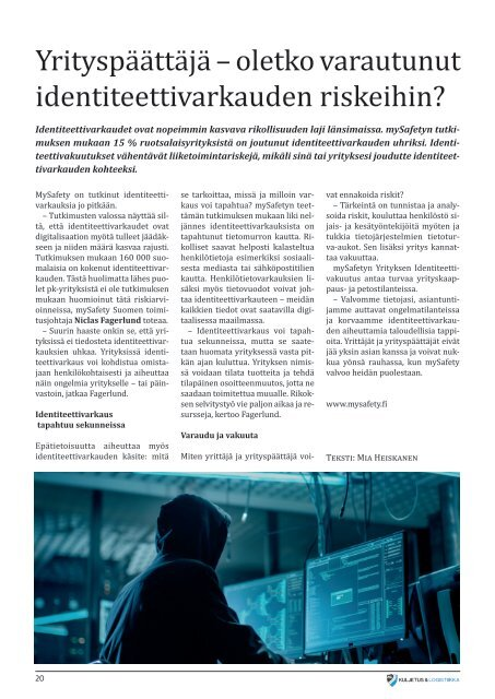 Kuljetus & Logistiikka 3 / 2019