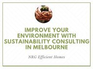 Improve Your Environment with Sustainability Consulting in Melbourne