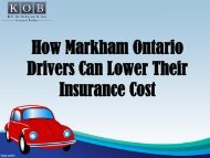 How Markham Ontario Drivers Can Lower Their Insurance Cost