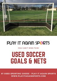 Used Soccer Goals and Nets - You Can't Miss This