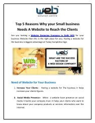 Top 5 Reasons Why your Small business Needs A Website to Reach the Clients