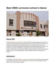 Best CBSE curriculum school in Ajman