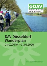 DAV Düsseldorf Wanderplan 01.07.2019 –01.01.2020