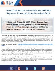 Small Commercial Vehicle Market Size, Growth, Research, Applications, Shares & Insights 2019 to 2026