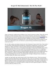 How Does Krygen XL Male Enhancement Works?