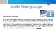Best Low Temperature Heat Pump at  Arctic Heat Pumps