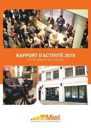 Rapport d'activité la Miel 2018