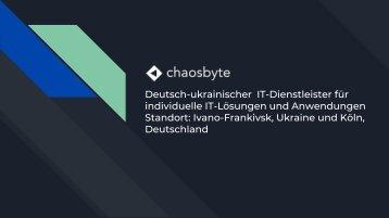 IT-Dienstleister Chaos Byte Ltd für individuelle IT-Lösungen - Unternehmensbroschüre