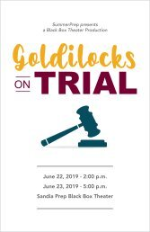 Goldilocks on Trial Program