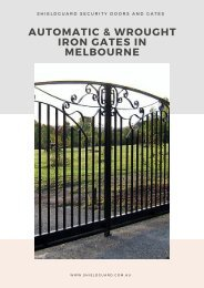 Give Your Property the Security It Deserves with Automatic Gates - ShieldGuard