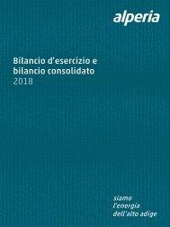 Bilancio d'esercizio e bilancio consolidato Alperia 2018