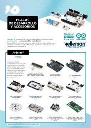 Velleman for Makers - Placas de Desarrollo y Accesorios
