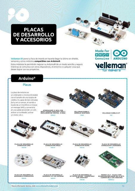Velleman for Makers - Placas de Desarrollo y Accesorios