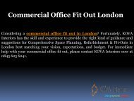 Commercial Office Fit Out London