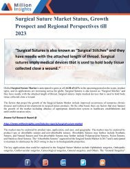 Surgical Suture Market Status, Growth Prospect and Regional Perspectives till 2023