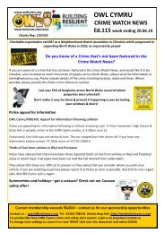 Ed115 we 20.06.19 OWL Cymru Crime Watch News