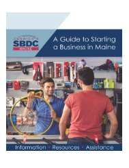 A Guide to Starting a Business in Maine