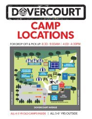 Dovercourt summer camp locations map 2019