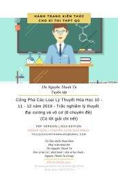 Công Phá Các Loại Lý Thuyết Hóa Học 10 - 11 - 12 năm 2019 - Trắc nghiệm lý thuyết đại cương và vô cơ (8 chuyên đề) (Có lời giải chi tiết)