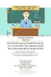 Công Phá Các Loại Lý Thuyết Hóa Học 10 - 11 - 12 năm 2019 - Trắc nghiệm lý thuyết hữu cơ (8 chuyên đề) (Có lời giải chi tiết)