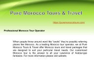 Professional Morocco Tour Operator