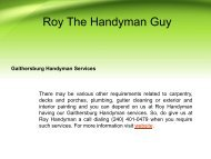 Professional Gaithersburg Handyman Services