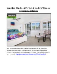 Venetian Blinds – A Perfect & Modern Window Treatment Solution