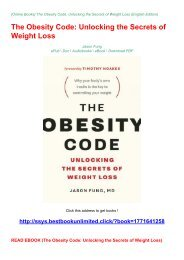 READ EBOOK (The Obesity Code: Unlocking the Secrets of Weight Loss)