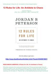 READ EBOOK ANDROID (12 Rules for Life: An Antidote to Chaos)