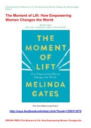 EBOOK FREE (The Moment of Lift: How Empowering Women Changes the World)