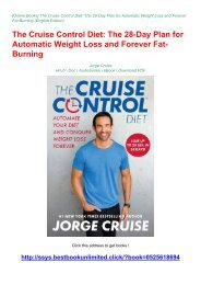 EBOOK DOWNLOAD (The Cruise Control Diet: The 28-Day Plan for Automatic Weight