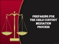 Preparing For The Child Custody Mediation Process