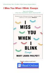 DOWNLOAD BOOK PDF FREE (I Miss You When I Blink: Essays)