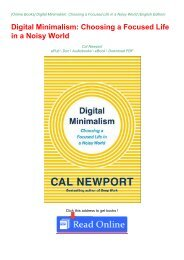 DOWNLOAD BOOK IN PDF (Digital Minimalism: Choosing a Focused Life in a Noisy