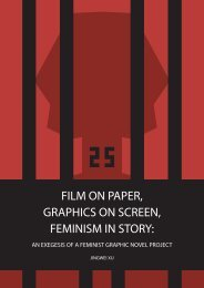 Film on Paper, Graphics on Screen, Feminism in Story