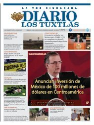 Edición de Diario los tuxtlas del día 22 de junio