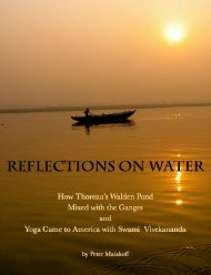How Thoreau's Walden Pond Mixed with the Ganges and Yoga Came to America with Swami Vivekananda