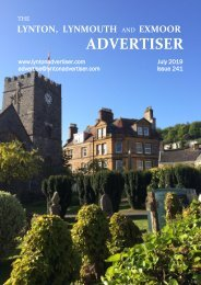 Lynton, Lynmouth and Exmoor Advertiser, July 2019