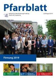 2019-07 Pfarrblatt Freiburg
