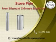 Shop Stove Pipe at the best price from Discount Chimney Suppy Inc.