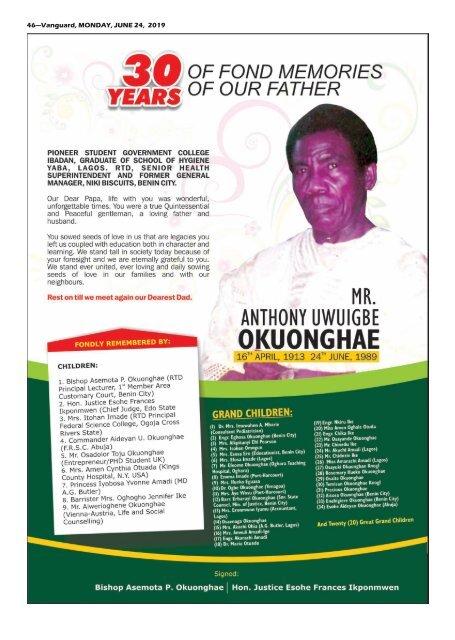 24062019 - EDO Oyegun Oshiomhole ateach  others troats