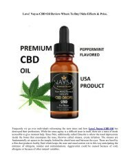 Love Naysa CBD ingredients | the way it Works