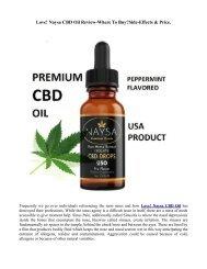 Love Naysa CBD ingredients | the way it Works