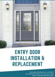 Entry Door Installation and Replacement