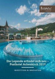 Die Legende erfindet sich neu - Posthotel Achenkirch 2019