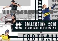 Catalogue Errea Teamwear 2019 chez votre équipementier sportif CLUB-SHOP.FR
