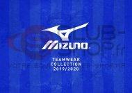 Catalogue Mizuno Teamwear 2019 chez votre équipementier sportif CLUB-SHOP.FR