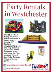 Party Rentals in Westchester